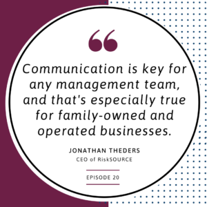 Communication is key for a family owned business