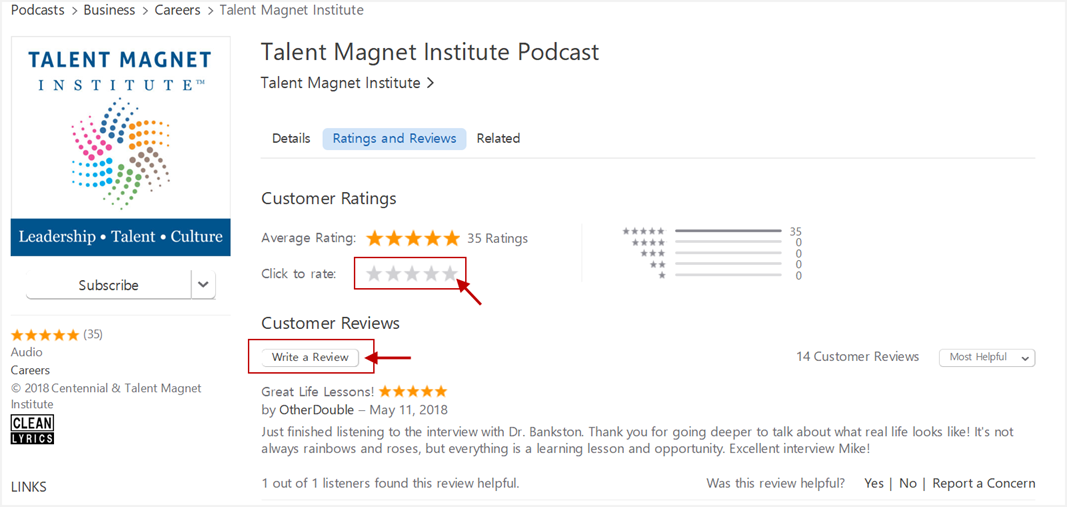 review a podcast
